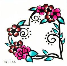 BT0059 Colorful Flower Heart-Shaped Easy Fun Tattoo,On Skin & Desired Surface PlantGrabber http://www.amazon.com/dp/B00A645ATG/ref=cm_sw_r_pi_dp_Dq8Mtb1F3T9276KS $0.72