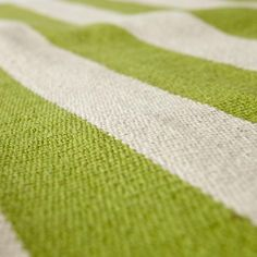 Kids Rugs: Green Striped Patterned Rug | The Land of Nod