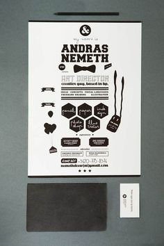 art director/graphic designer CV by András Németh, via Behance