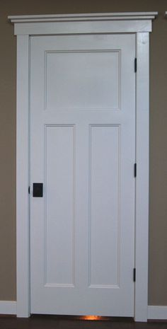 craftsman style door trim | Craftsman style interior doors, stained wood instead, with same trim ...