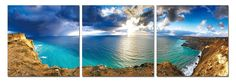 Modrest Bay 3-Panel Painting VGSCSH-7552ABCProduct :70800Features:3 panelsDimension:Each Panel Painting: W71