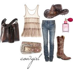 cowgirl, created by clayhandler on Polyvore