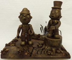 When You Wish Upon a Star Collaboration - Pinocchio and Jiminy Cricket - Cake by Teté Cakes Design