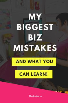 Ever feel like you're drowning in mistakes? OR are you too afraid to take that next step in your biz because you're AFRAID to make mistakes? Click through to see some of the BIGGEST mistakes I've made when it comes to growing my online business so that you can learn and grow from them too! 💖  #entrepreneurtips #onlinebusiness #onlinebusinesstips #onlinebusinessgrowth