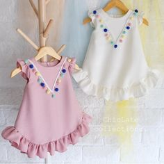 Examples of t-shirt decoration, examples of t-shirt decoration, # penylage … – KinderMode Little Girl Fashion, Kids Fashion, Fashion Games, Little Girl Dresses, Girls Dresses, Baby Dresses, Dress Anak, Baby Dress Design, Kids Frocks