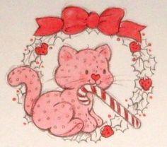 Vintage Kenner / American Greetings Strawberry Shortcake - Custard Kitty in Christmas Wreath What's My Favorite Color, Vintage Strawberry Shortcake, Rainbow Brite, Christmas Cats, Xmas, American Greetings, Strawberry Fields, 80s Kids, Retro