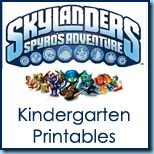 Free Skylanders Printable Pack...Kindergarten Level.