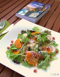 Schneller Salat mir Granatapfel und Parmesan - Live Light