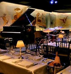 Go to the Cafe Carlyle in NYC - it's gorgeous and elegant