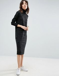 ASOS, knitted dress with high neck