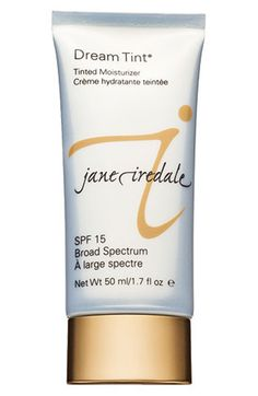 Gluten free/paraben free Great for pool in summer-jane iredale 'Dream Tint' Moisture Tint Broad Spectrum SPF 15 available at #Nordstrom