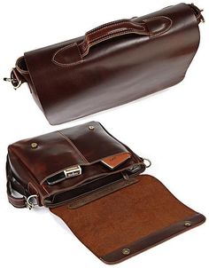 "Handmade Leather Briefcase / Messenger / 13"" 14"" 15"" Laptop 13"" 15"" MacBook Bag"