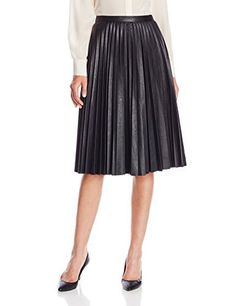 Anne Klein Women's Faux-Leather Pleat...:  ☺ ☺
