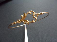 Elegant Victorian Brass  Bangle Bracelet by Jenalynscreations, $13.99