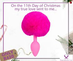 This gorgeous little butt plug says it all. Silky and  smooth with the devilish fluffy tail in bright pink! Roll on the fun and celebrate with Secret Corner