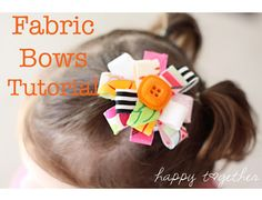 FABRIC HAIR BOWS from fabric scraps or ribbon