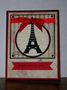 Eiffel Tower Celebration by ladybugg61 - Cards and Paper Crafts at Splitcoaststampers