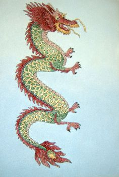 Chinese Dragon Paintings | Paintings of Chinese Dragon, Chinese Dragon Gem Painting, Chinese ...