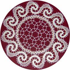a háló vonalrajza  Egy képet láttam egyszer egy orosz csipke részletéről, melyen ezt a hálót fedeztem fel. Tömve volt pikókkal is, az... Teneriffe, Lace Heart, Lace Jewelry, Simple Art, Easy Art, Lace Making, Bobbin Lace, Paper Dolls, Lace Detail