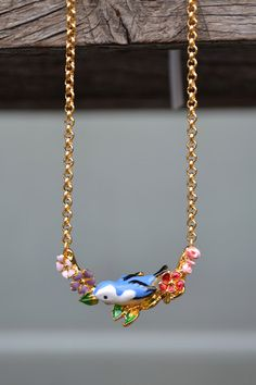 Bill Skinner Hedgerow Floral Pendant Necklace