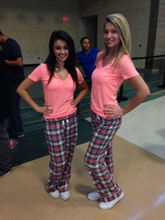 Matching pajama day twins