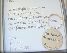 Bride Gift to Groom Gift with wedding date by SoBlessedDesigns