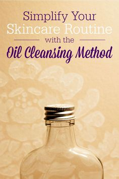 I have been using the oil cleansing method for about two years now and I'm hooked. In combination with a real food diet, it's done a lot for my skin: cleared up acne, erased lines, and added moisture. It sounds weird to clean your face with oil, but it works! It removes all the makeup, too!