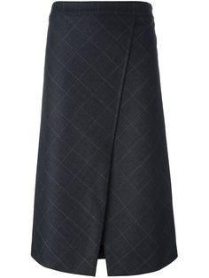 Brunello Cucinelli jacquard wrap skirt