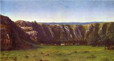 Rocky landscape near Flagey - Gustave Courbet
