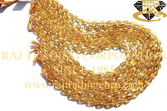 Citrine Faceted Drops (St. Drill) (Quality A) Shape: Drops Faceted Length: 36 cm Weight Approx: 15 to 17 Grms. Size Approx: 5x8 to 6.5x11 mm Price $37.60 Each Strand
