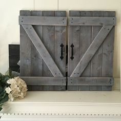 2 RUSTIC BARN DOORS Large Size Rustic Gallery By ElevenOwlsStudio
