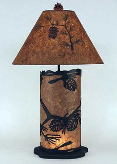 Perfect Pine Cone Lamp With Nightlight Base