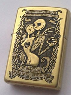 Nightmare Before Christmas Custom Zippo, Custom Lighters, Cool Lighters, Zippo Collection, Lighter Case, Light My Fire, Zippo Lighter, Bongs, Nightmare Before Christmas