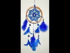 Tutorial - Ponto triangular - Filtro dos Sonhos (Dreamcatcher/ Atrapasueños) - YouTube Dream Catcher Patterns, Dream Catcher Art, Diy Dream Catcher Tutorial, Flower Mandala, Flower Tutorial, String Art, Creative Inspiration, Diy And Crafts, Weaving