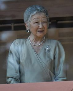 Japan's Empress Michiko appears at a new year greeting at the East Plaza, Imperial Palace in Tokyo, Japan, on 02.01. 2014.