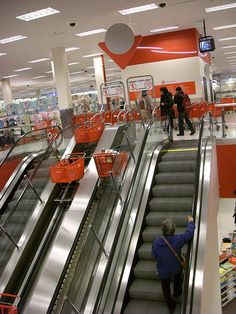 Target Cart Escalator-we have actually been to this store!