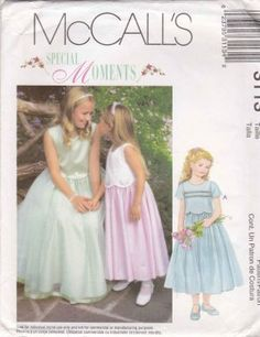 McCall�s Sewing Pattern 3113 Girls� Size 10-14 Formal Party Flower Girl Layered Dress