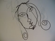Wire Mobiles | I did this with the with the 6-9 yr olds as a self portrait.