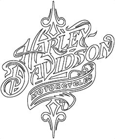 Click to get a bigger copy Harley Davidson Decals, Harley Davidson Engines, Harley Davidson Images, Harley Davidson Tattoos, Wood Burning Patterns, Wood Burning Art, Purple Butterfly Wallpaper, Coloring Books, Coloring Pages