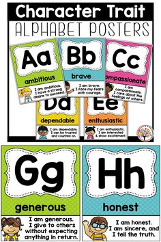 Character Education Traits in a fun alphabet display! #kisforkinderrific