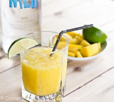 Mango Citrus Cooler  Ingredients 1 cup crushed ice ⅓ cup mango (diced and frozen) ½ lime, juiced ½ tsp Crystal Light lemonade mix (I used part of a singles packet) 1½ oz Vodka Lime slices for garnish (optional) Instructions 1. Blend everything together in the blender. Pour into a glass, garnish with lime wedge. Serve.