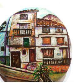 Casas bajas #piedraspintadas #piedraspintadasamano #piedras #handmade #valencia