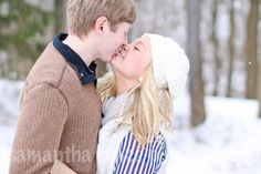 Snow Engagement Session by Sami Renee Photography // Cleveland Family, Wedding, & Portrait Photographer