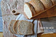 Wholemeal bread - Healthy Recipe and organic wholemeal bread cereals 5 Brioche Map, Pain Frit, Brunch, Instant Yeast, Recipe Using, Bread Recipes, Banana Bread, Healthy Recipes, Cooking