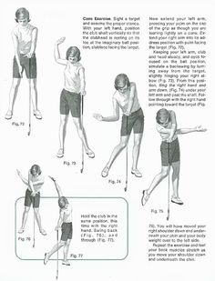 Golf Lessons by National Golf Foundation The Cane Exercise