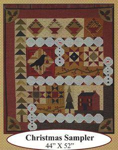 Primitive Folk Art Quilt Pattern  CHRISTMAS by PrimFolkArtShop, $8.00