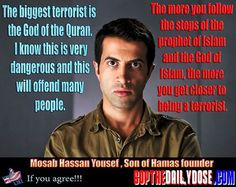 Mosab Hassan Yousef, Son of Hamas founder