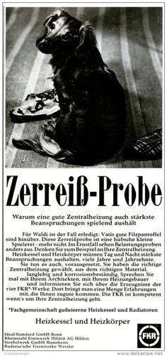 Original-Werbung/ Anzeige 1967 - FKA HEIZKESSEL / MOTIV HUND - ca. 115 x 240 mm