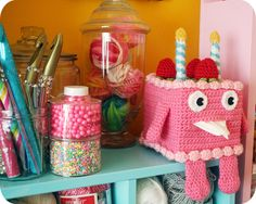 Birthday Cake Tissue Box Cozy