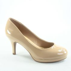 Soda Soda Andi-s Women's Sexy Classic Patent Comfort Round Toe Low High Heel Pump Shoes